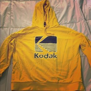 Tops - Kodak Yellow Hoodie Small